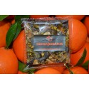 Tablet Black Chocolate with nuts and Candied Orange 120gr.